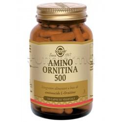 Solgar Amino Ornitina 500 Integratore per Difese Immunitarie e Fegato 50 Capsule Vegetali