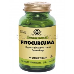 Solgar Fitocurcuma Integratore Antiossidante 60 Capsule Vegetali