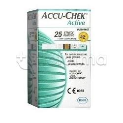 Roche Accu Chek Active Strisce Reattive Per Glicemia 25 Strisce
