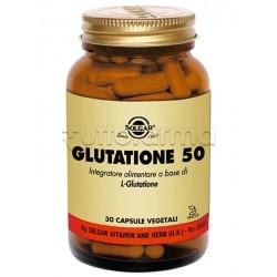 Solgar Glutatione 50 Integratore Antiossidante 30 Capsule