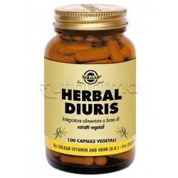 Solgar Herbal Diuris Integratore per Ritenzione Idrica 100 Capsule Vegetali