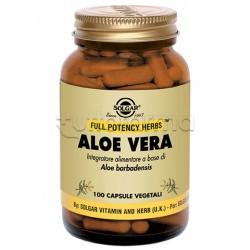 Solgar Aloe Vera Integratore per Benessere Intestinale e Depurativo 100 capsule