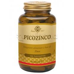 Solgar Picozinco Integratore di Zinco Antiossidante 100 Tavolette