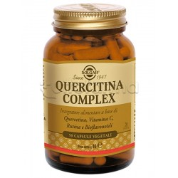 Solgar Quercitina Complex Integratore per Difese Immunitarie 50 Capsule