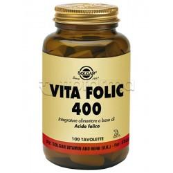 Solgar Vita Folic Integratore di Acido Folico per Gravidanza 100 Tavolette