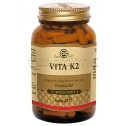 Solgar Vita K2 Integratore di Vitamina K per Circolazione e Ossa 50 Capsule