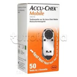 Cassetta Test Misuratore di Glicemia Accu-Chek Mobile 50 Strisce