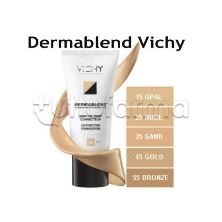 Vichy Dermablend Fondotinta Correttore 25 Nude Nudo 30 ml