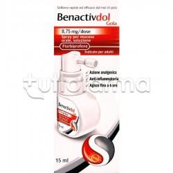 BenactivDOL Gola Spray Antinfiammatorio per Mal di Gola 15ml