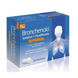Bronchenolo Sedativo e Fluidificante per Tosse e Catarro 20 Pastiglie da Sciogliere