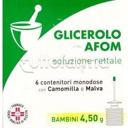 Afom Microclismi Glicerolo Camomilla e Malva per Stitichezza Bambini 6 Clisterini