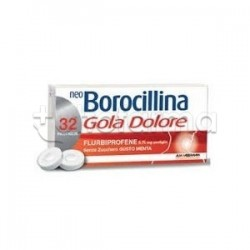 NeoBorocillina Gola e Dolore per Mal di Gola 32 Pastiglie Senza Zucchero