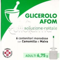 Afom Microclismi Glicerolo Camomilla e Malva per Adulti 6 Clisterini