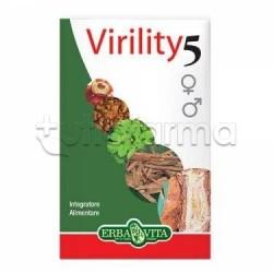 Erba Vita Virility 5 Integratore per Virilità e Impotenza 60 Capsule