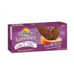 Cereal Buoni Senza Biscotti Breakfast con Cacao e Cioccolato Senza Glutine 200g