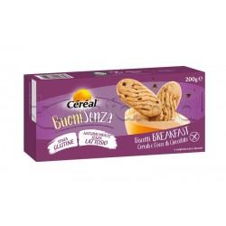 Cereal Buoni Senza Biscotti Breakfast ai Cereali con Gocce di Cioccolato Senza Glutine 200g