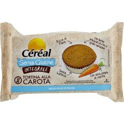 Cereal Tortina Integrale alla Carota Senza Glutine 4 Pezzi