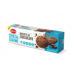 Doria Biscotti al Cioccolato Senza Glutine 4 Confezioni da 3 Biscotti