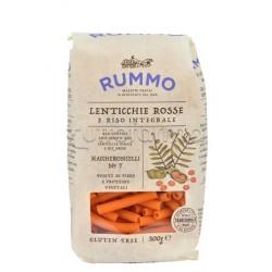 Rummo Maccheroncelli N.7 Pasta con Lenticchie Rosse e Riso Integrale Senza Glutine 300g
