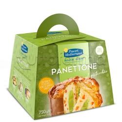 Piaceri Mediterranei Panettone al Pistacchio Senza Canditi Senza Glutine 750g