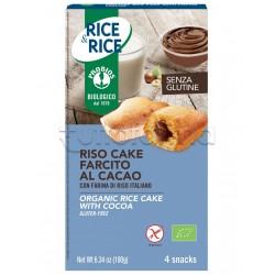 ProbiosRice&Rice Riso Cake Farcito al Cacao Senza Glutine 4 Snack
