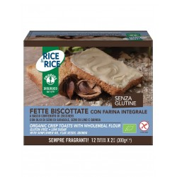 Probios Rice&Rice Fette Biscottate con Farina Integrale Senza Glutine 12 Confezioni