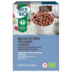 Probios Rice&Rice Bolle di Riso al Cacao Senza Glutine 150g