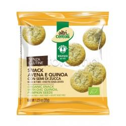 Probios Altri Cereali Snack Avena e Quinoa con Semi di Zucca Senza Glutine 35g