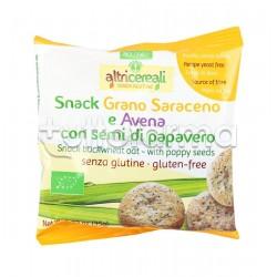 Probios Altri Cereali Snack Saraceno e Avena con Semi di Papavero Senza Glutine 35g