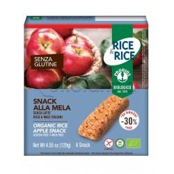 Probios Rice&Rice Snack di Riso alla Mela Senza Glutine 6 Snack