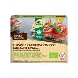Probios Altri Cereali Crispy Crackers con Ceci Lenticchie e Piselli Senza Glutine 110g