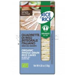 Probios Rice&Rice Quadrette di Riso Senza Sale Senza Glutine 130g