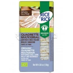 Probios Rice&Rice Quadrette ai Multicereali Senza Glutine 130g
