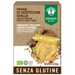 Probios Pasta Penne di Lenticchie Gialle Senza Glutine 250g
