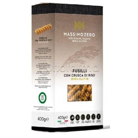 Massimo Zero Fusilli Pasta con Crusca di Riso Senza Glutine 400g