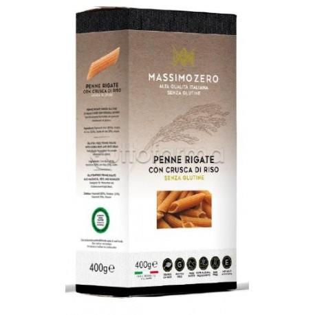 Massimo Zero Penne Rigate Pasta con Crusca di Riso Senza Glutine 400g