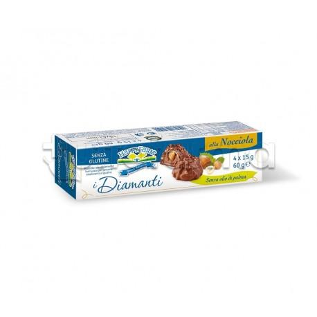 Happy Farm Cioccolatini Diamanti al Cioccolato Senza Glutine 60g