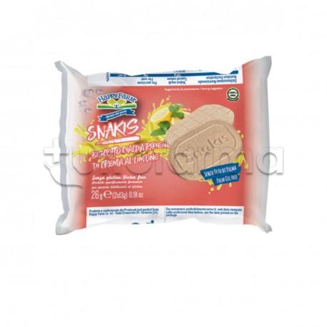 Happy Farm Snakis Biscotto con Crema al Limone Senza Glutine 26g