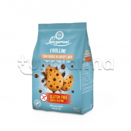 Lazzaroni Frollini al Cacao con Gocce di Cioccolato Senza Glutine 200g