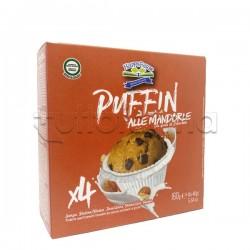 Happy Farm Puffin Muffin alla Mandorla con Gocce di Cioccolato Senza Glutine 160g