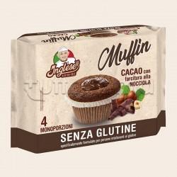 Inglese Muffin al Cacao con Farcitura alla Nocciola Senza Glutine 4X40g